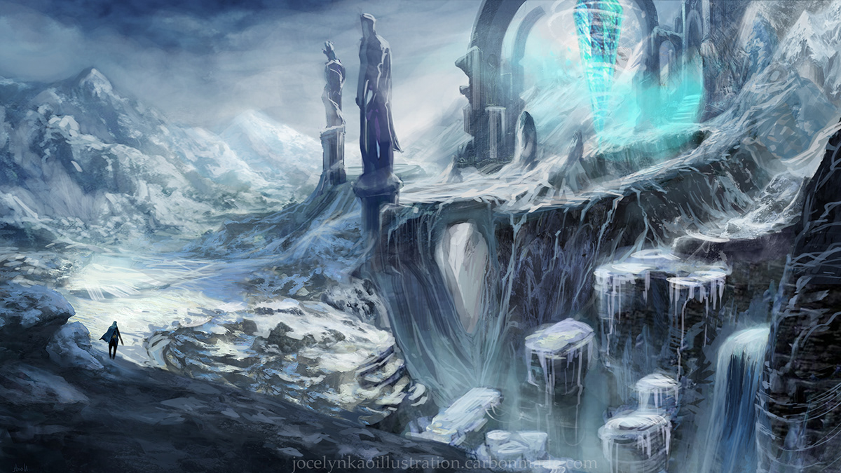 Concept Art - Ice Land on Behance
