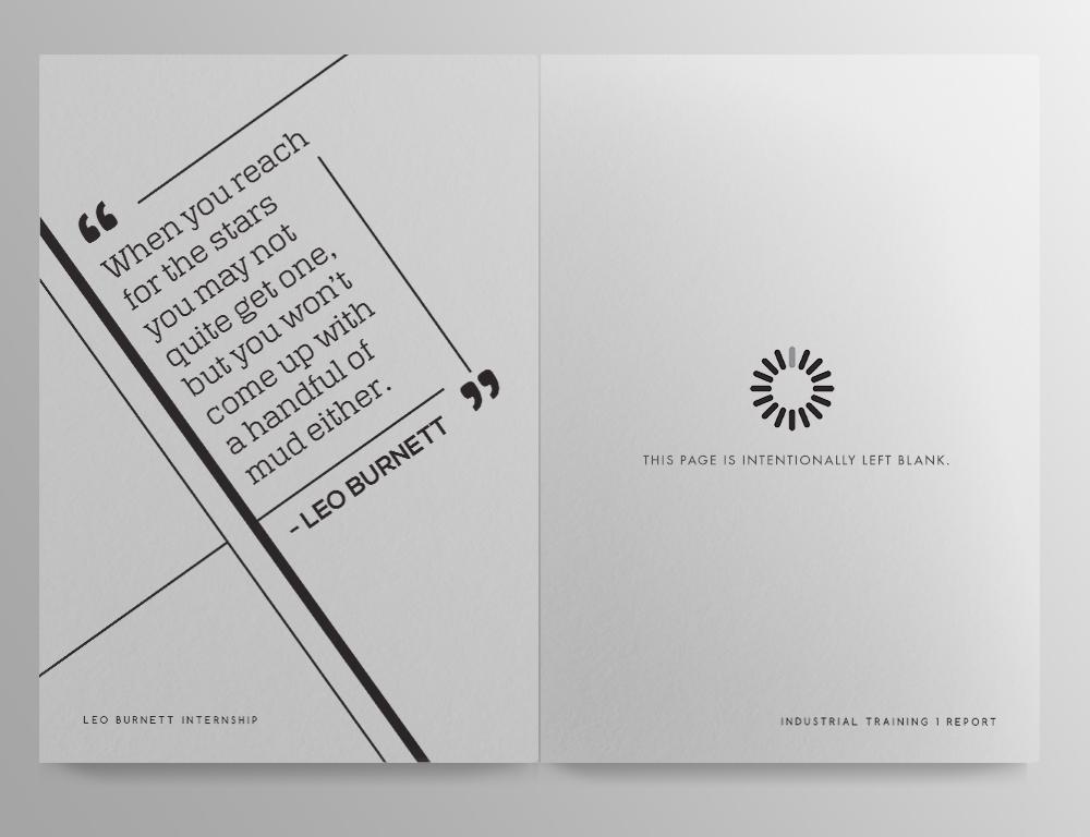 Leo Burnett KL Internship: Report Design on Behance