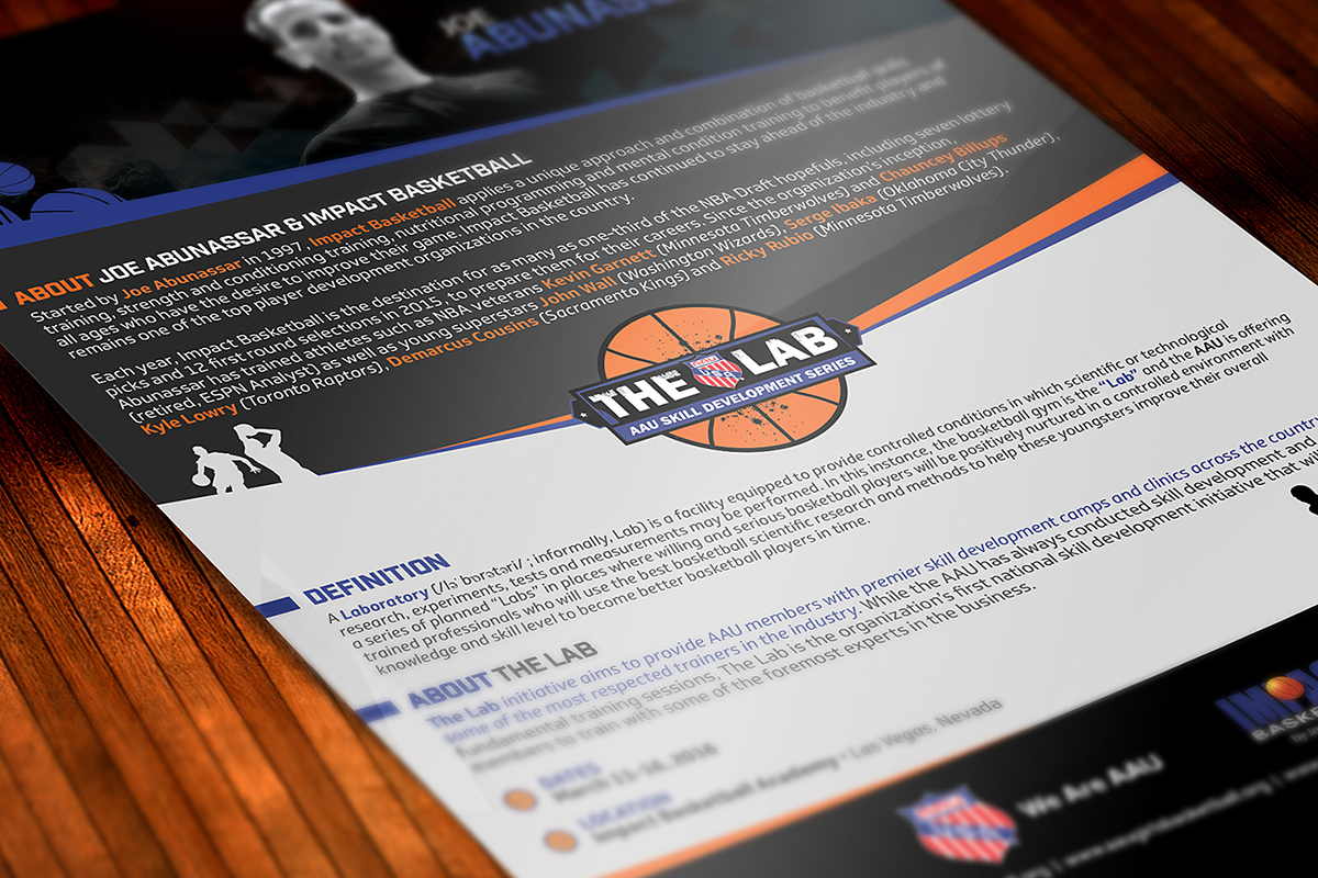 "Aau ""the Lab"" Basketball Flyer Design"