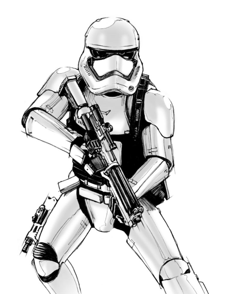 Gratis Malvorlagen Star Wars Clone - Malbild