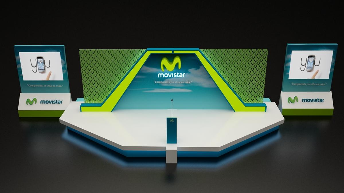 MOVISTAR Modular Booth Design on Behance
