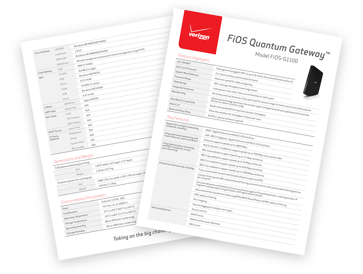 FiOS Quantum Gateway Collateral on Behance