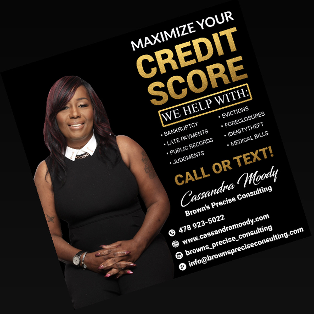 I Will Create Credit Repair Flyer Business Flyer On Wacom