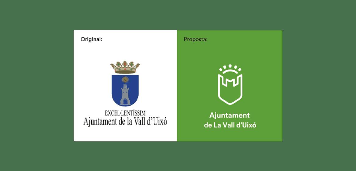 rediseño escudo La Vall d'Uixó. Escut Vall d'Uixo / Vall de uxo
