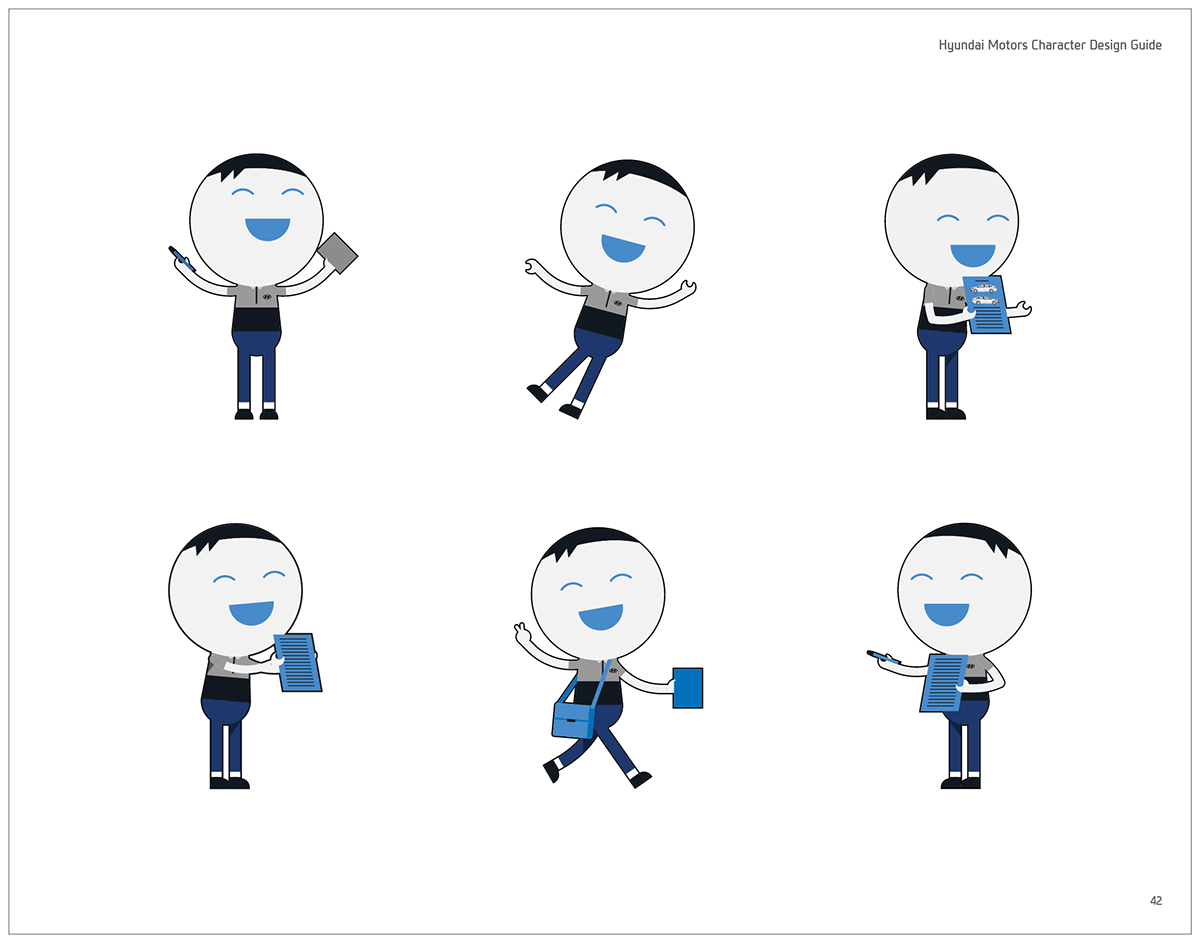 HYUNDAI MOTORS Character Design Guide Book (Official) on