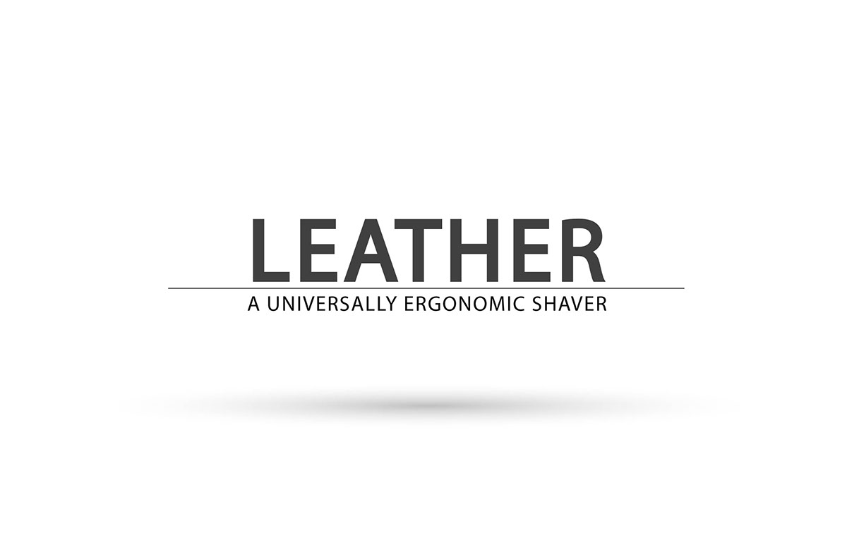 Leather An Electric Shaver On Behance
