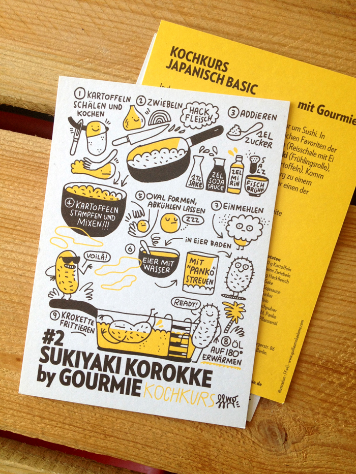 Gourmie — Illustrated Recipe Flyer On Behance