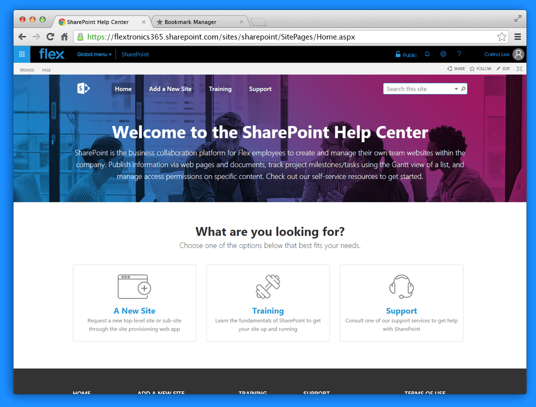 SharePoint Help Center Page Designs on Behance