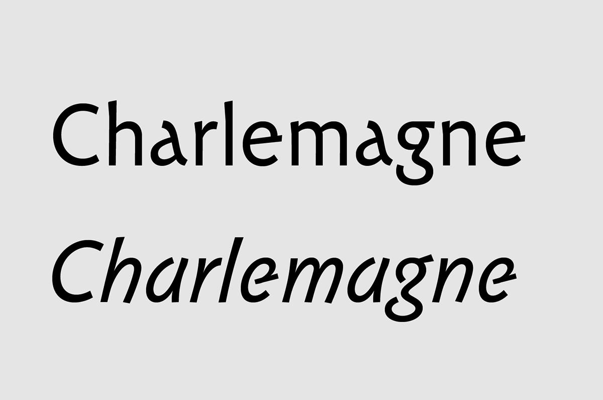 Carolinéale typeface on Behance