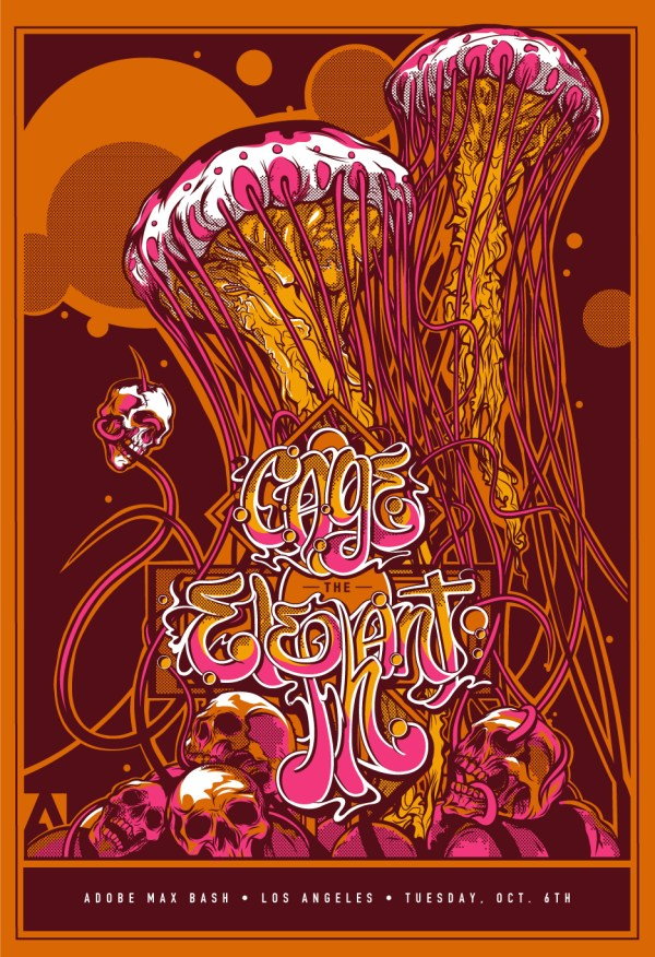 Cage Elephant Poster Adobe Max 2015 Behance