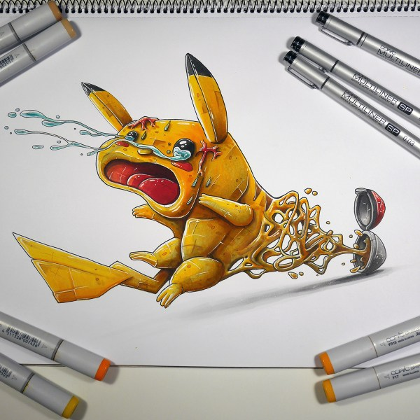 """pikachu Catched"" Copic Marker Illustration Behance"