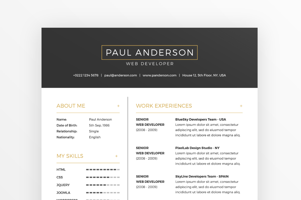 Free Templates For Cover Letters Free Resume Cover Letter Template Business Cards On Behance