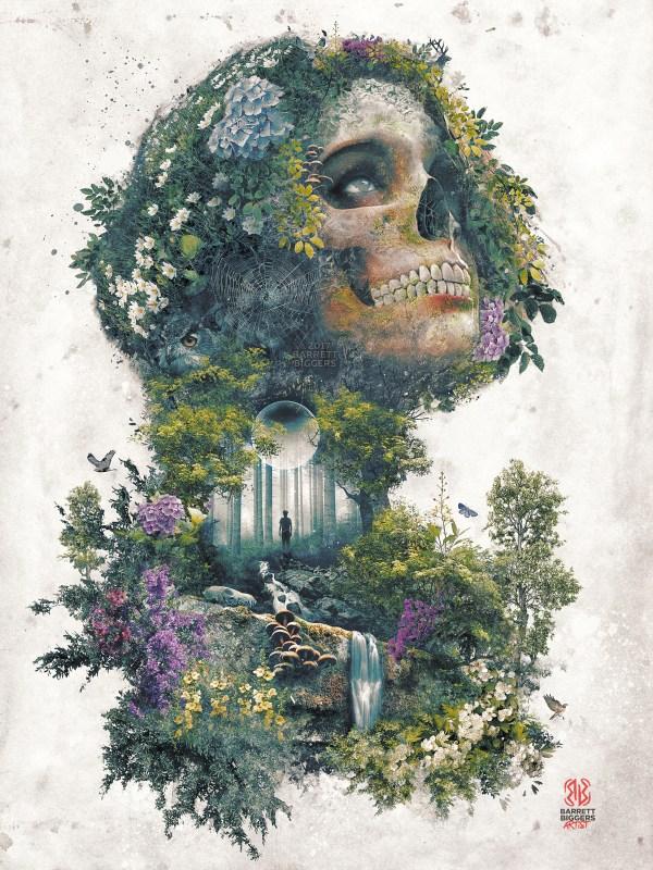 Life And Death Nature Skull Surrealism Fantasy Art Behance