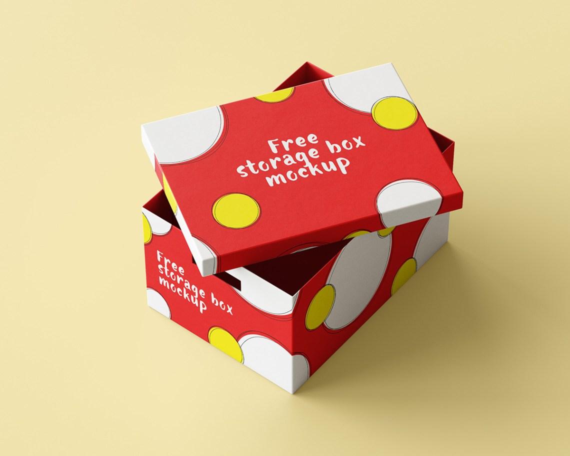 Download Free storage box mockup on Behance
