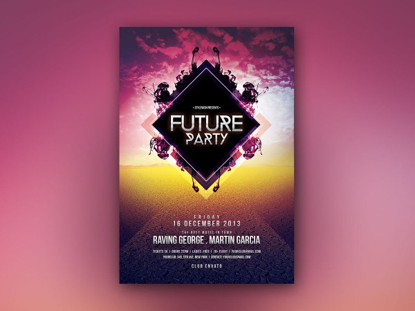 Future Party Flyer Behance