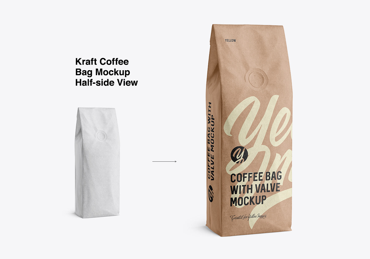 Software box standing over a transparent backdrop mockup. Coffee Bags Moskups On Behance