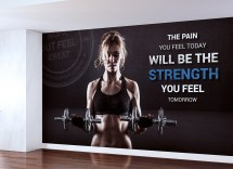 Fitness Gym Wall Graphic