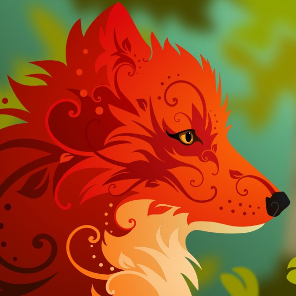 Art Nouveau Fox Behance