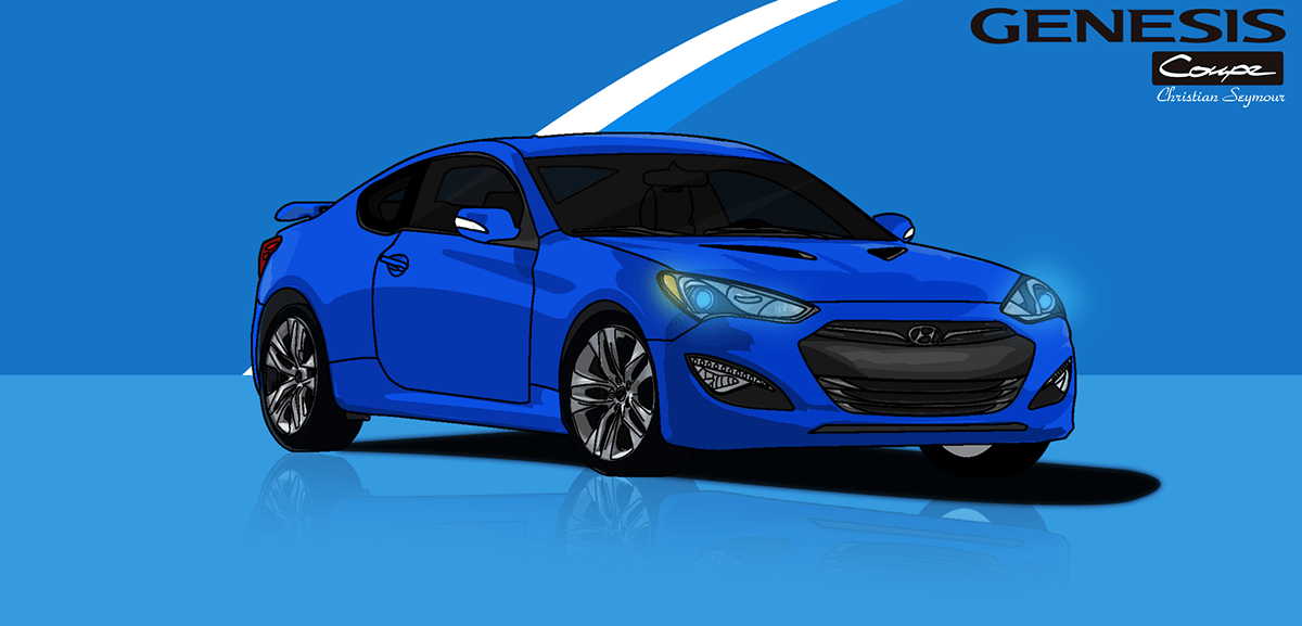Welcome to hyundai motor manufacturing alabama, llc (hmma), hyundai's first assembly and manufacturing plant in the united states. Hyundai Genesis Coupe Illustration on Behance