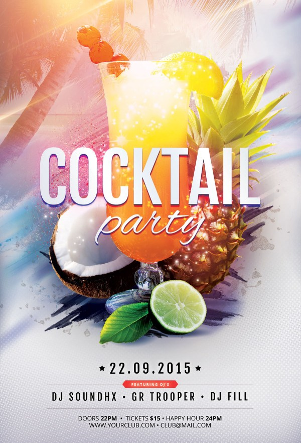Cocktail Party Flyer Behance