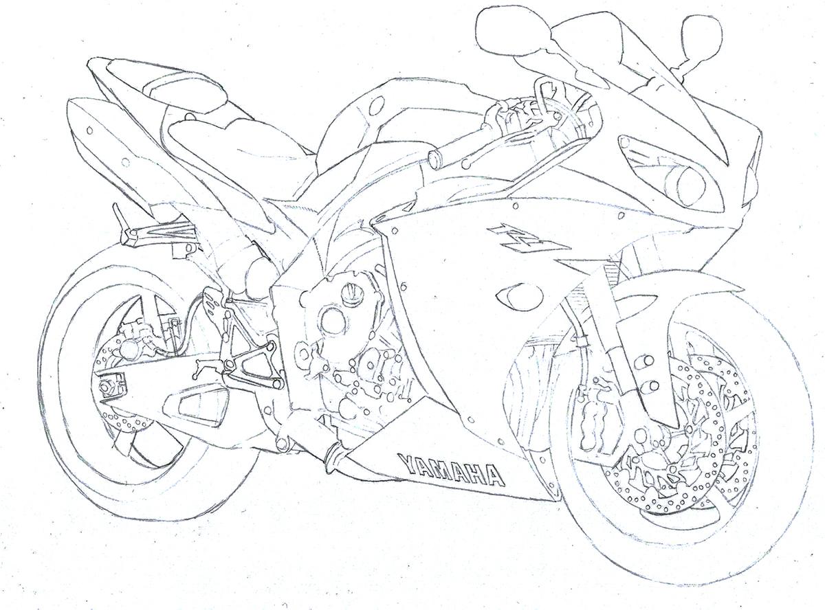 Drawing Yamaha YZF R1 on Behance