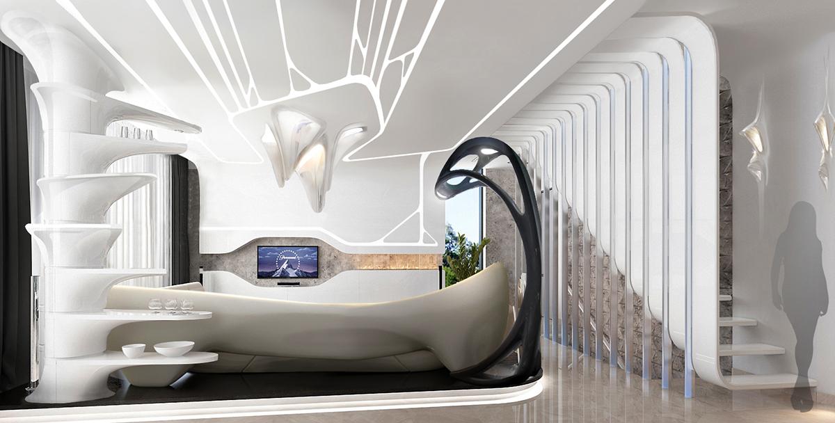 Digital interior designParametric style on Behance