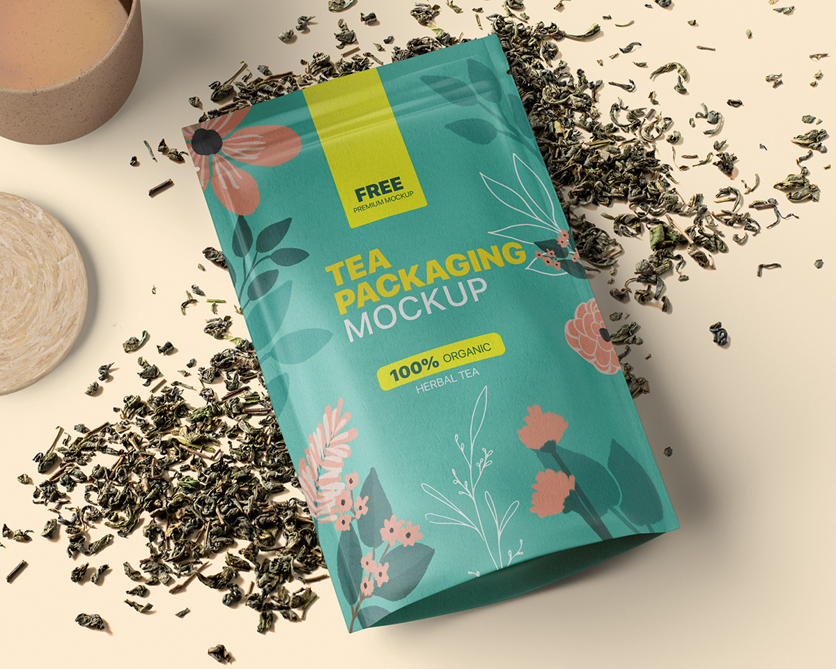 Country living reveal which tea bag brands do and don't have plastic in their tea bags. Free Tea Packaging Mockup On Behance