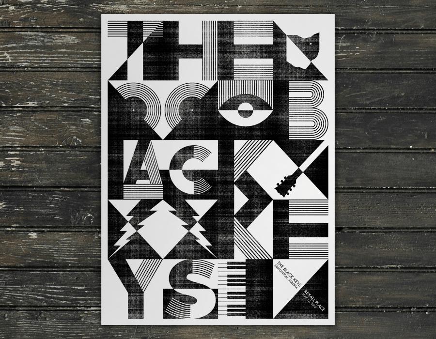 jason dean the black keys gig poster