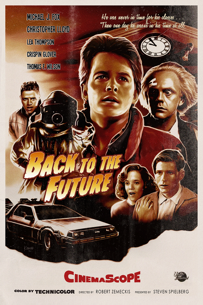 back to the future poster 1955 vintage