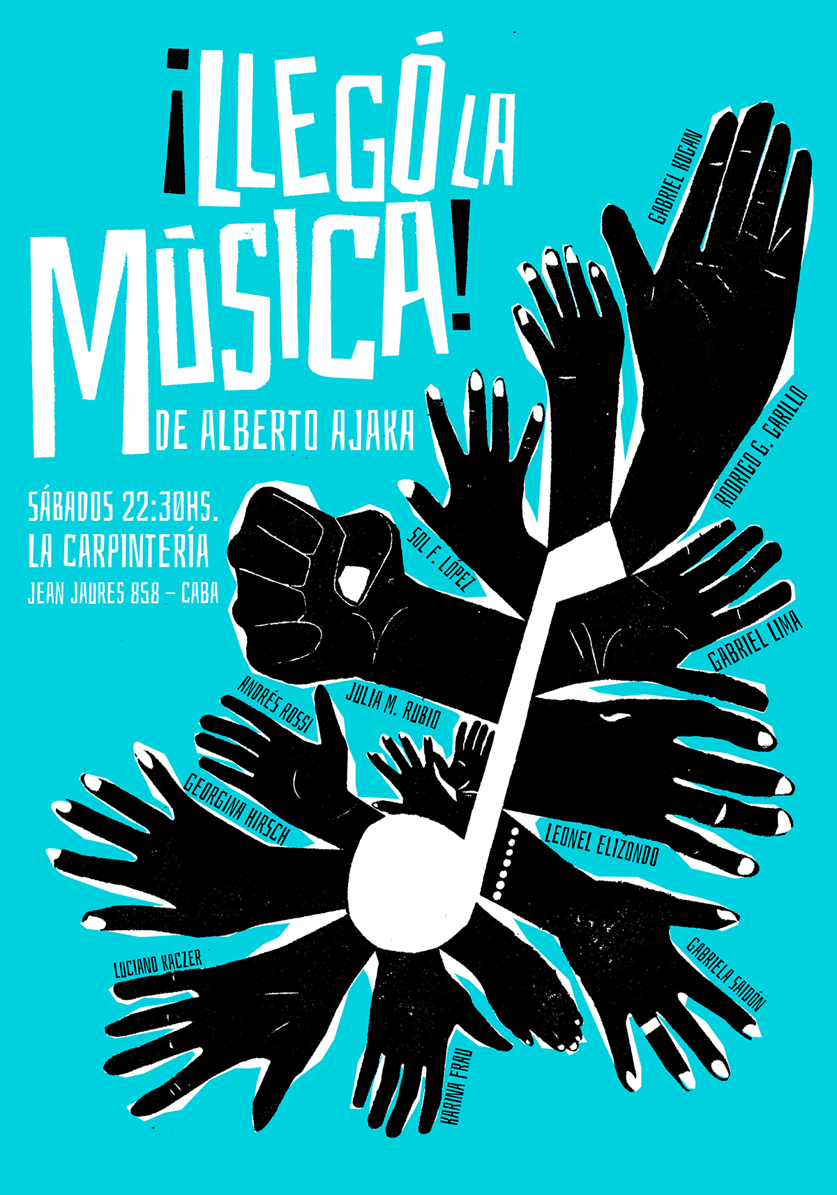 Lleg la Msica  Afiche on Behance