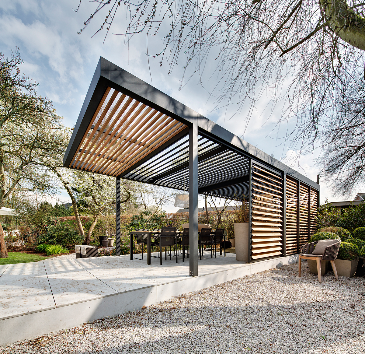 free standing umbris patio roof on behance