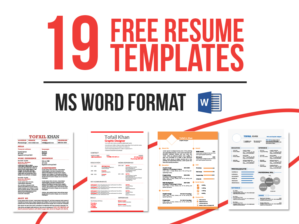 Free Resume Word Template 19 Free Resume Templates Download Now In Ms Word On Behance