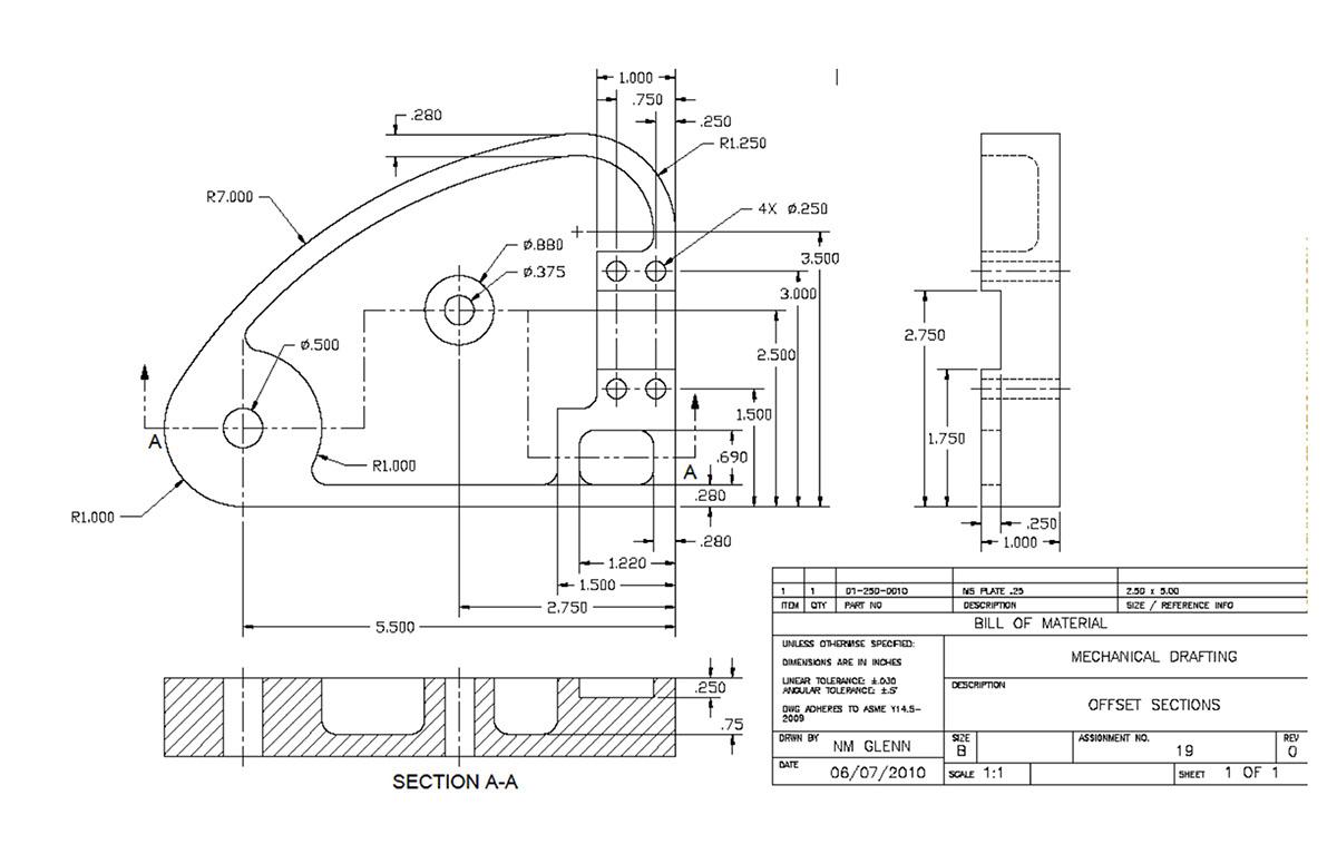 ACAD 2D Mechanical Drafting on Behance