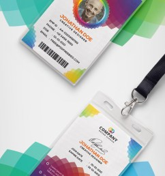 download free corporate branding identity card free psd this free corporate office id card psd template a designed for any types of companies and offices  [ 800 x 1562 Pixel ]