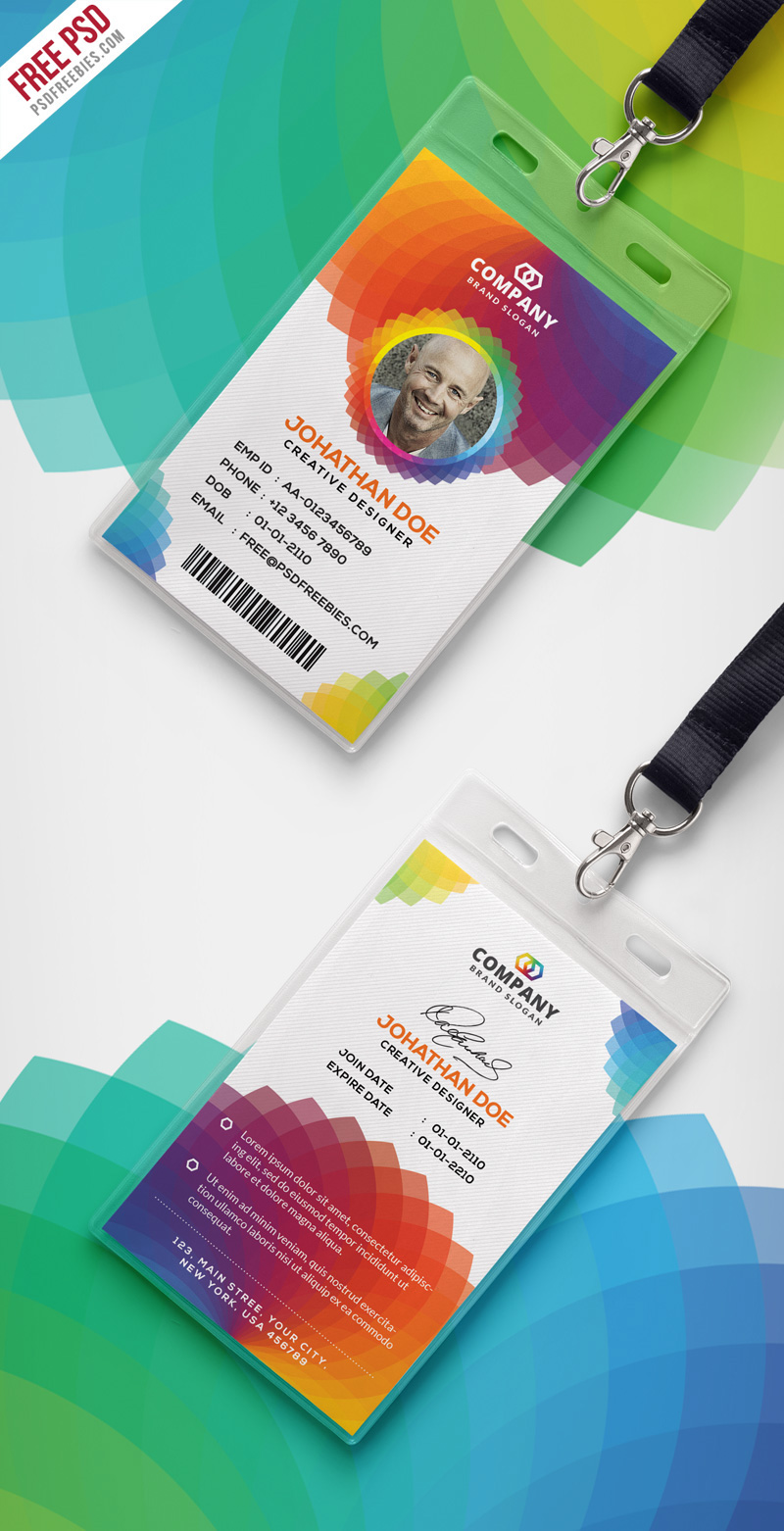 hight resolution of download free corporate branding identity card free psd this free corporate office id card psd template a designed for any types of companies and offices