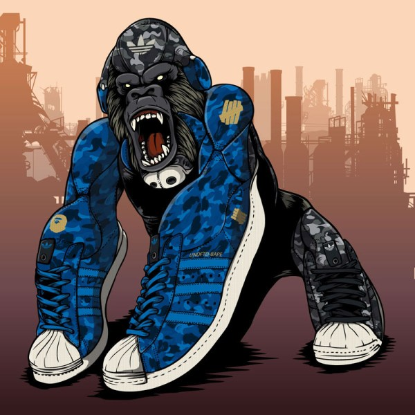 Bape X Undftd Adidas Originals Superstar 80s Artwork