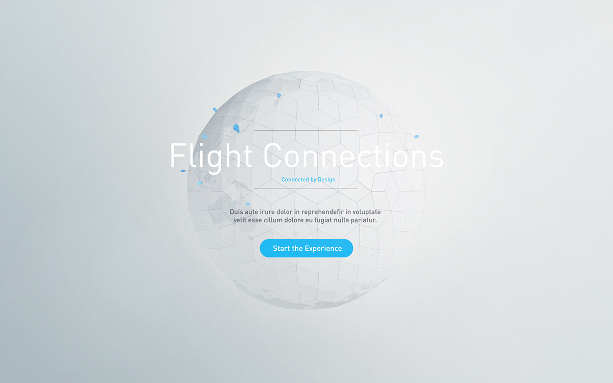 ANA Flight Connections on Behance
