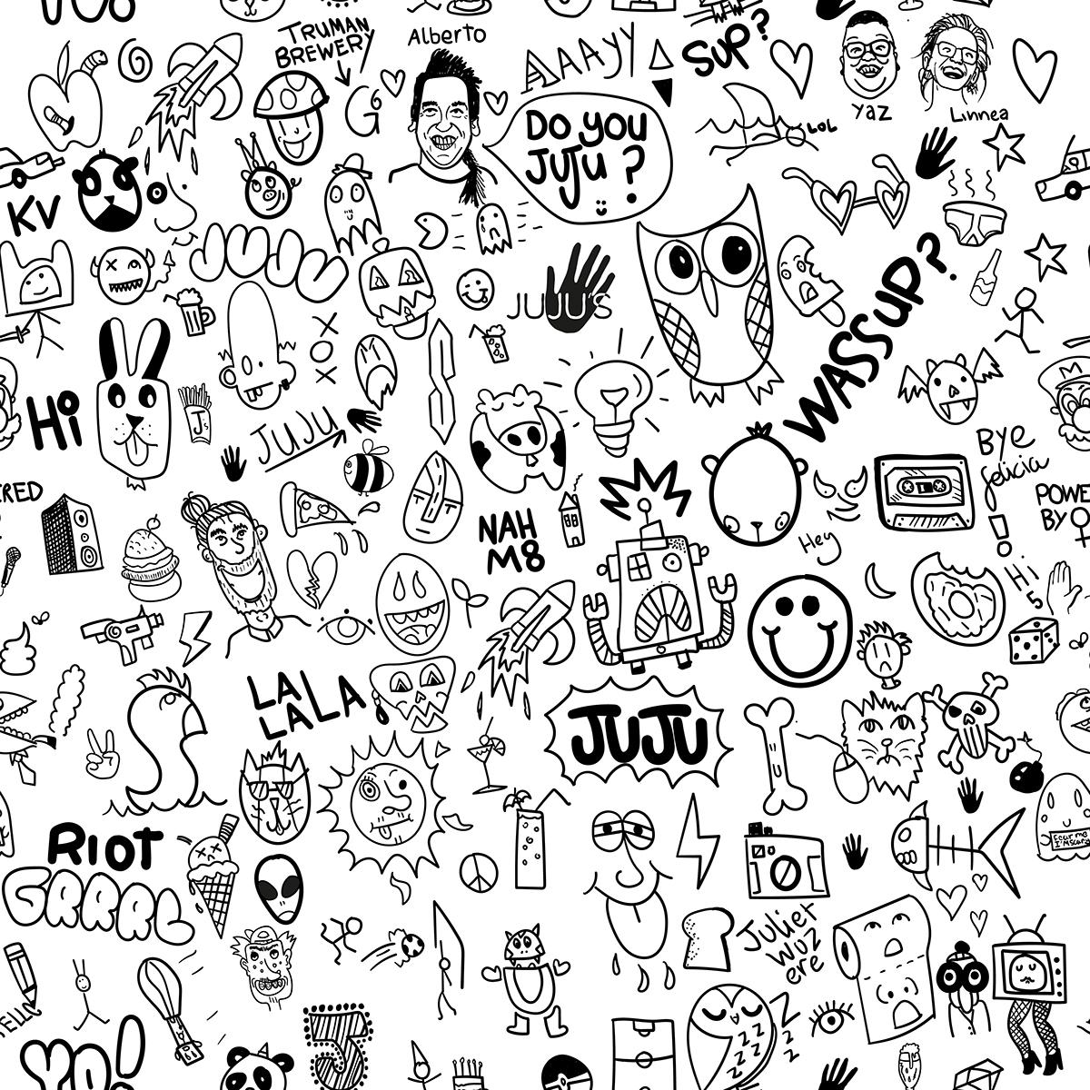 Juju Bar Doodle Wallpaper On Behance
