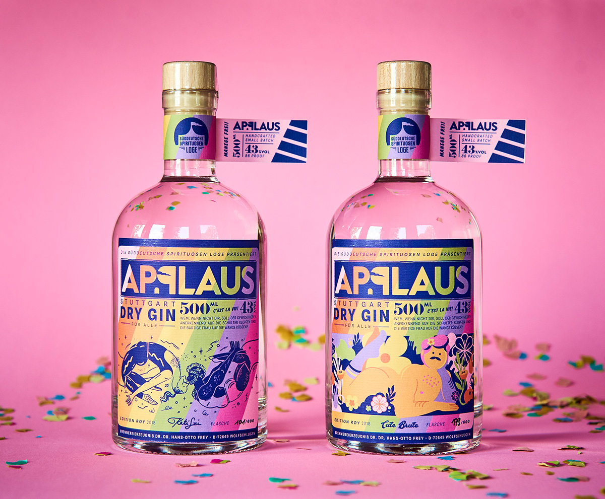 Pride Label – For Applaus Dry Gin on Behance