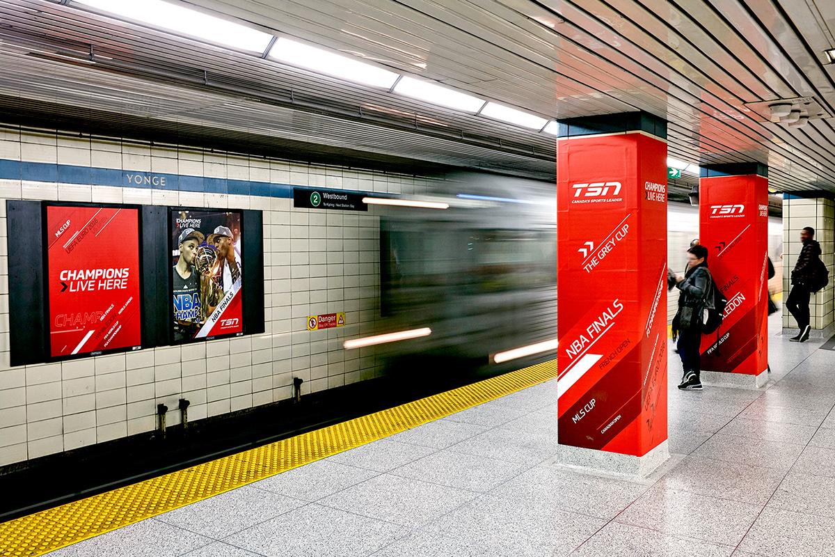 TSN - Yonge and Bloor Subway Domination on Behance