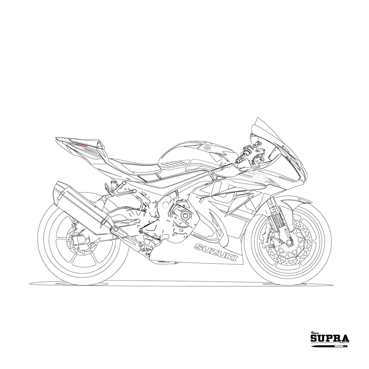 Suzuki GSXR 1000 2017 on Behance