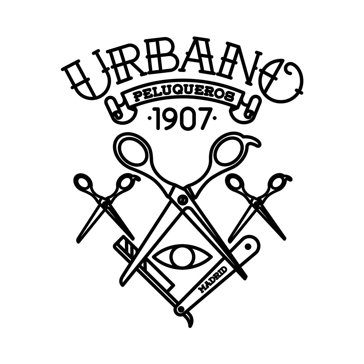 Urbano Peluqueros on Behance