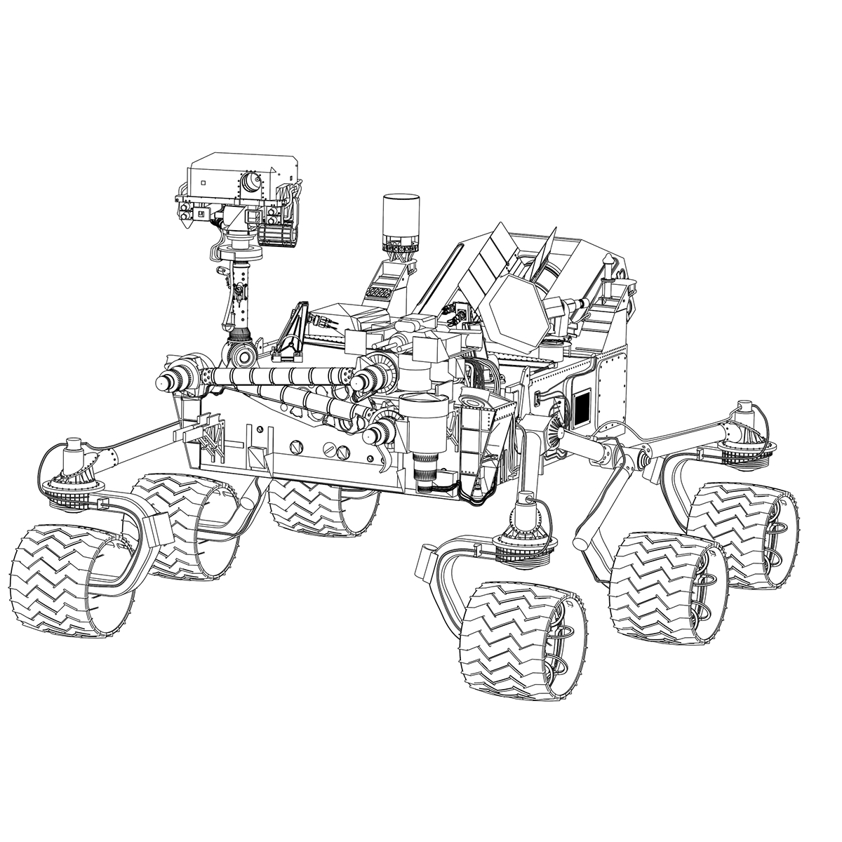 Mars Science Laboratory Rover On Behance
