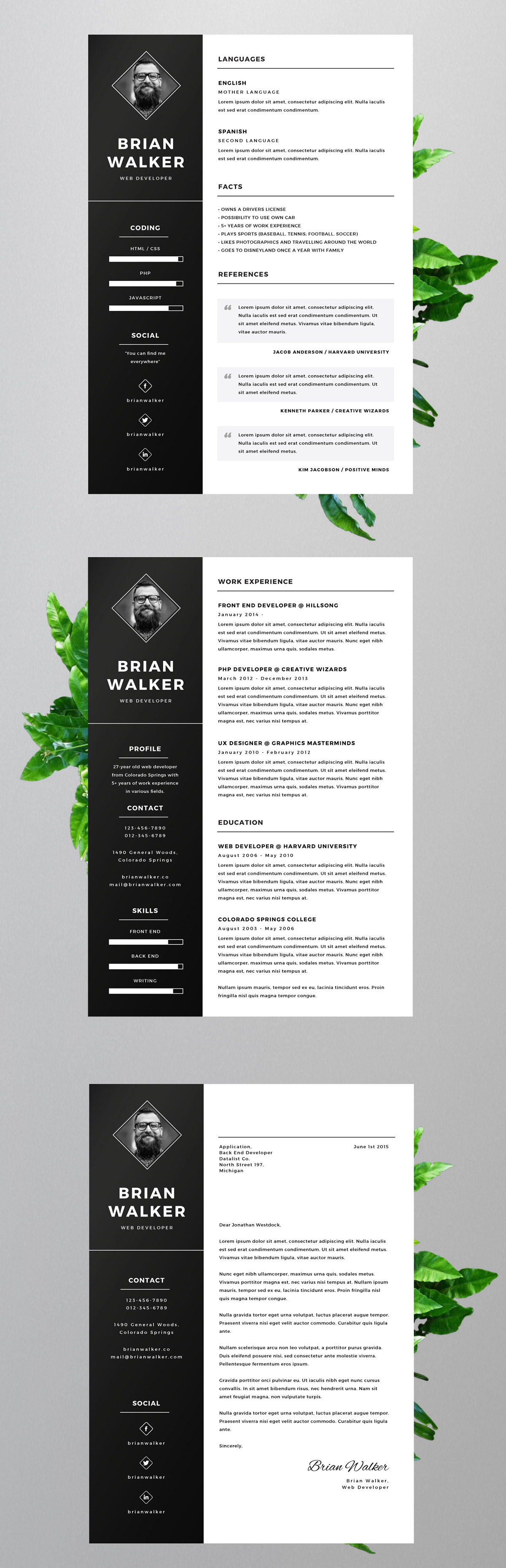 Resume Templates Illustrator Free Resume Template For Word Photoshop And Illustrator On