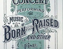 poster john mayer concert 2013 on behance