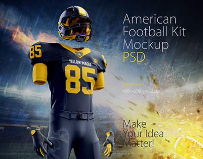 Download American Football Kit Mockup on Behance