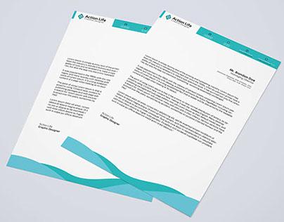 Free Download Letterhead PSD On Behance