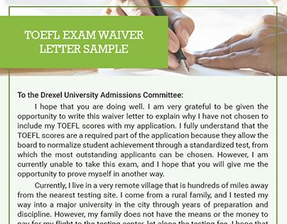 waiver letter samples on