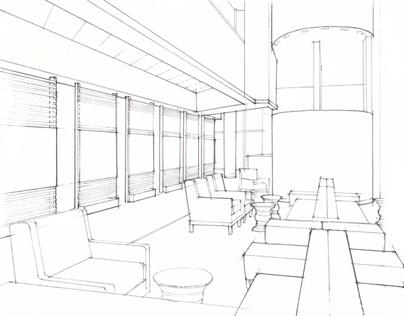 Crowne Plaza, San Jose Lobby Schematics on Behance