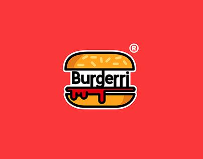 Burgerri Burger Logo Branding